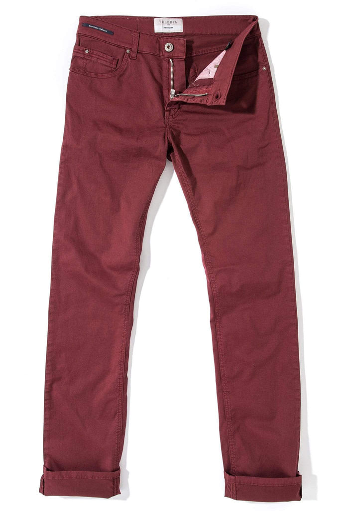 Teleria Zed Fowler Ultralight Performance Pant In Bordeaux Mens - Pants - 5 Pocket