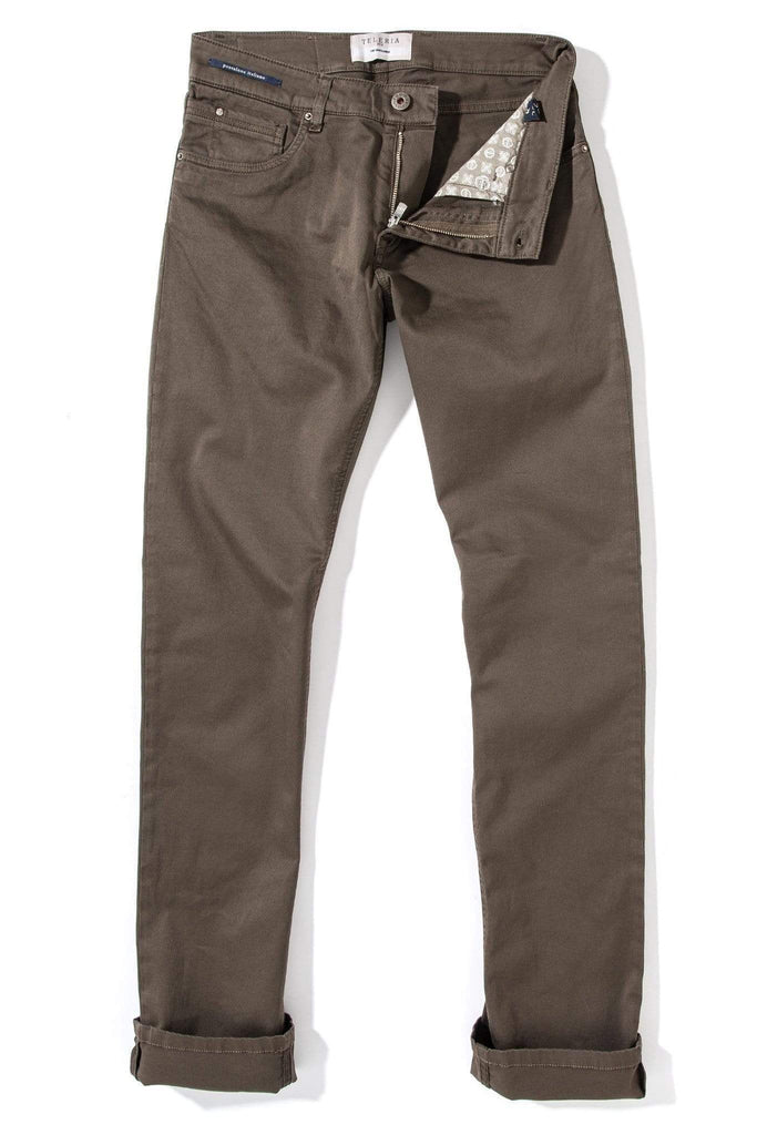 Teleria Zed Gunnison 5 Pocket Twill In Liquiriza Mens - Pants - 5 Pocket