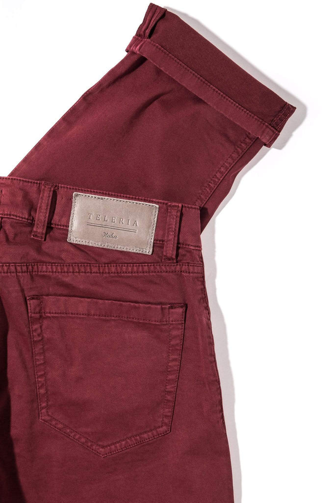 Teleria Zed Yuma Soft Touch In Bordeaux Mens - Pants - 5 Pocket