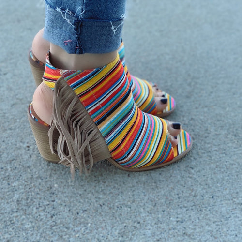 Soldier Creek Serape Heel