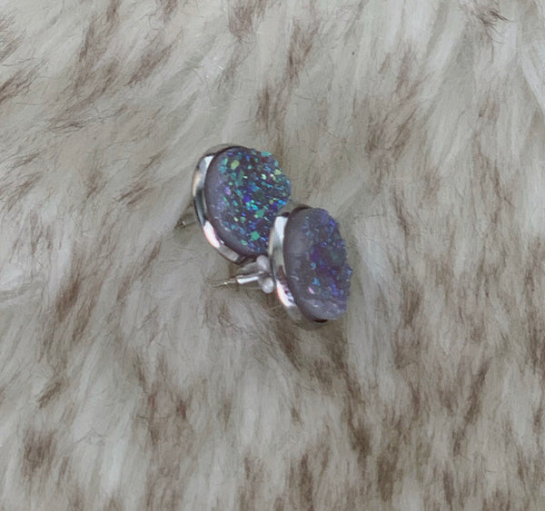 Rainbow Druzy Earrings