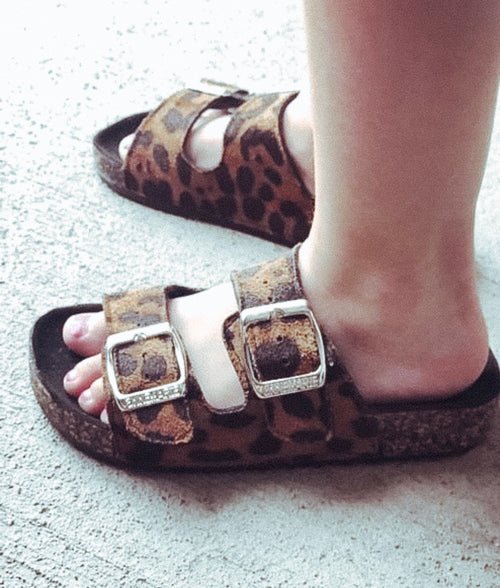 Faith Girls Leopard Sandals