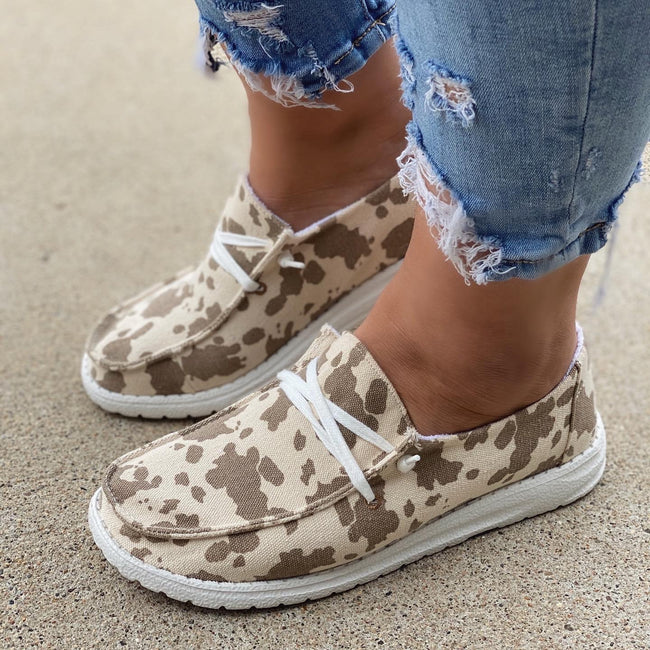 Jenny Cow Print Shoes