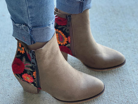 Paula Wedge Booties