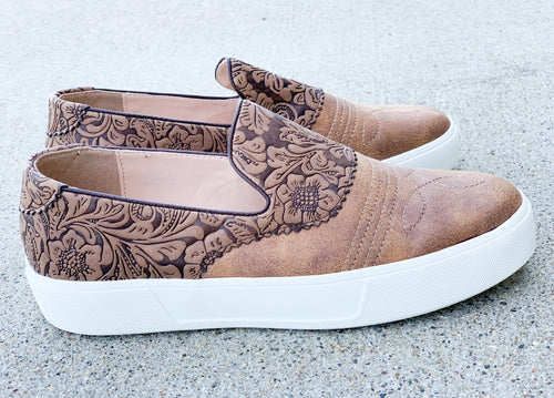 Longview Tooled Slip On Sneakers