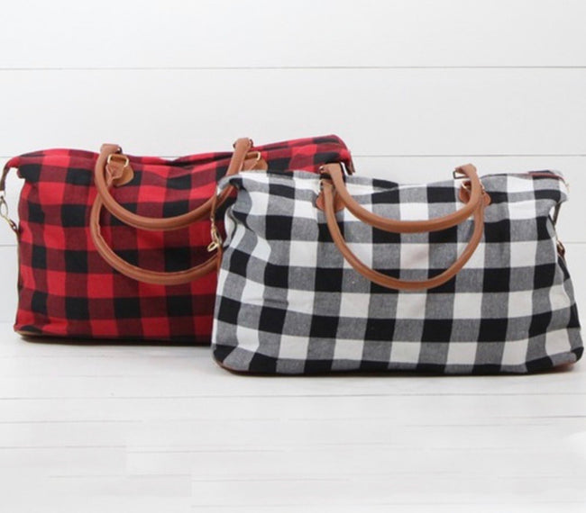 Flannel Weekend Bags