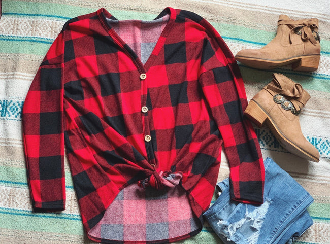 Nonnie Flannel Top