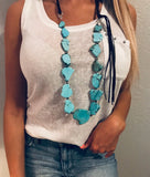 Leighton Turquoise Slab Necklace