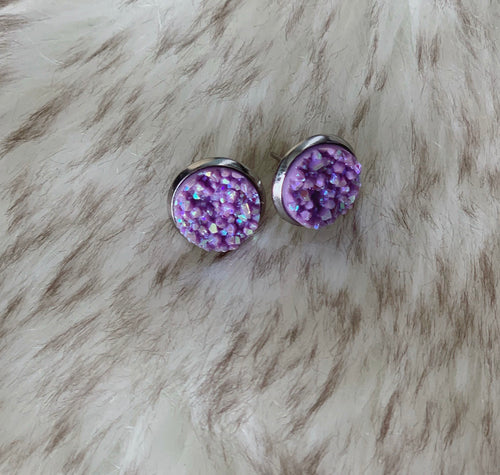 Coconut Druzy Earrings
