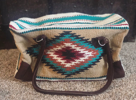 Arohoe Turquoise Fringe Cross body Bag