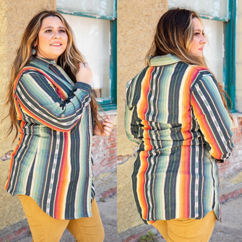 Serape Button Up Tunic