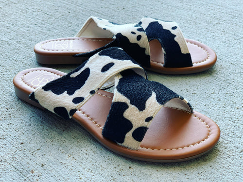 Cow Slip On Sandals