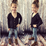 Toddler Black Button Up Tunic