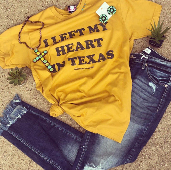 I Left My Heart In Texas Tee