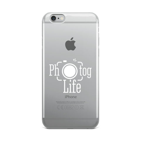 Photog Life White Logo iPhone Case