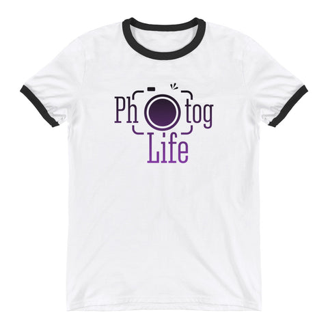 Photog Life Purple Ringer T-Shirt