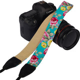 Vintage Chinese Flower Camera Strap