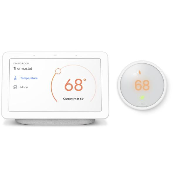 Nest Thermostat E with Google Home Hub
