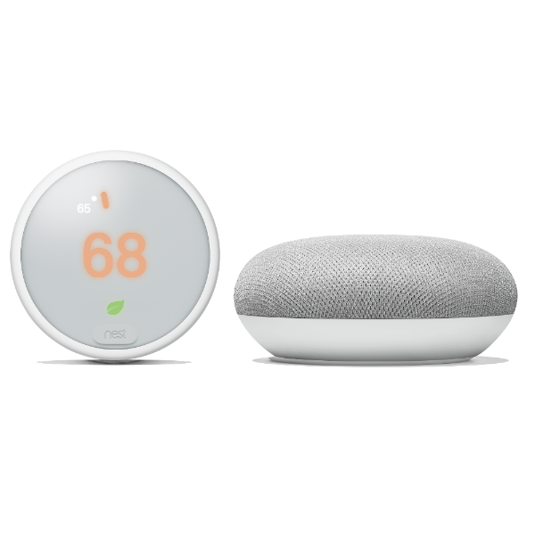 Nest Thermostat E with Google Home Mini