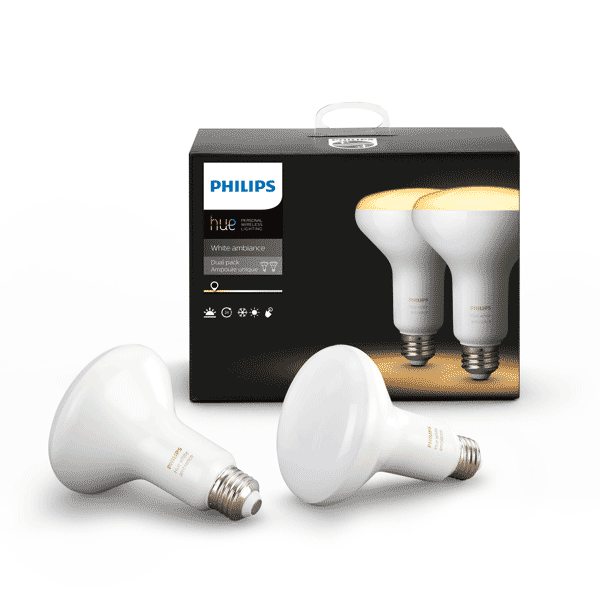 BR30 Philips Hue 8W Flood Light White Ambiance Indoor (2 Pack) image 24065043969