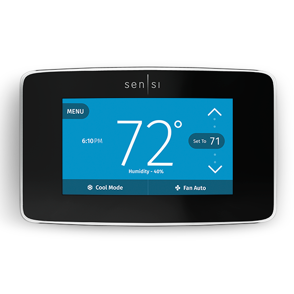 Emerson Sensi Touch Smart Thermostat with Color Touchscreen image 7306095493199