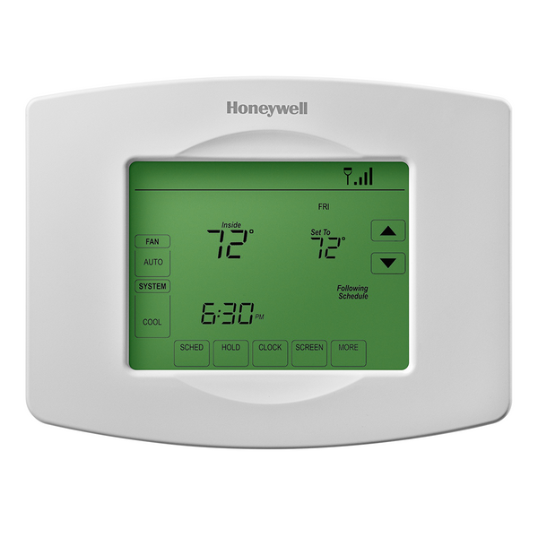 Honeywell Wi-Fi 7 Day Programmable Touchscreen Thermostat front view