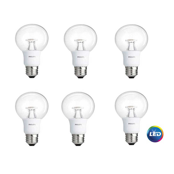 G25 Philips 7W Dimmable Globe Warm White Indoor (6 Pack)