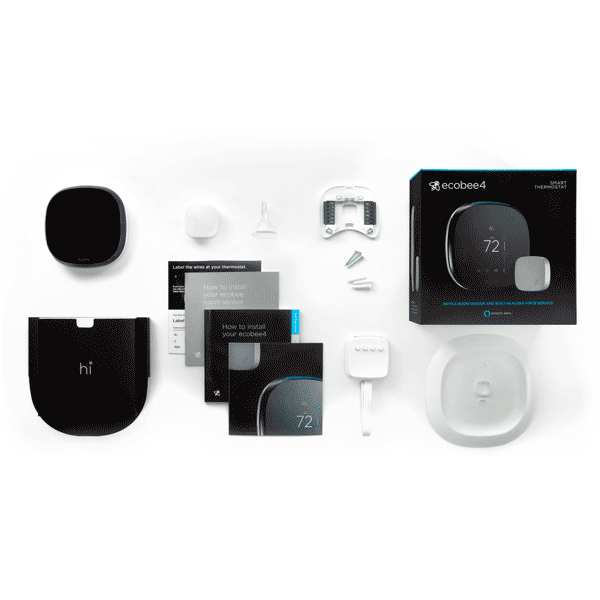 ecobee4 WiFi Thermostat w/ Built-in Alexa Voice Service image 24151578625