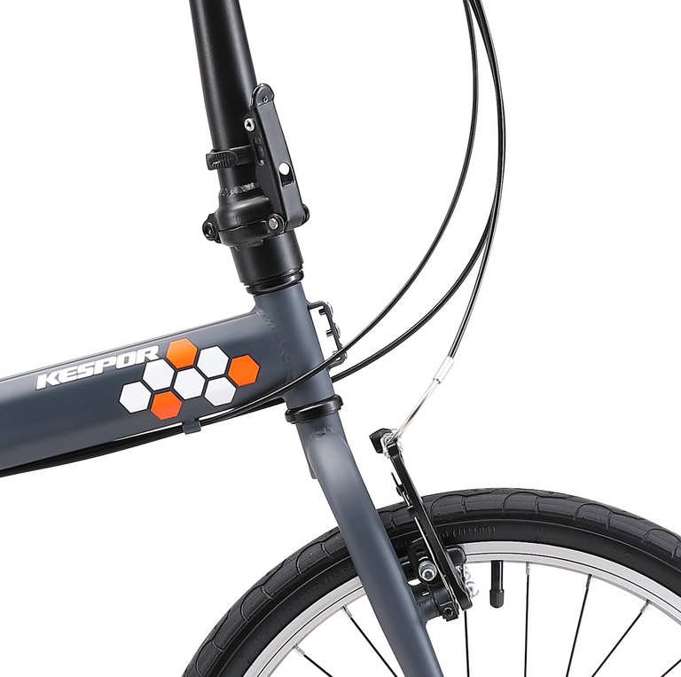 Kespor S7 Folding Bike 20 inch Shimano 7-Speed Grey