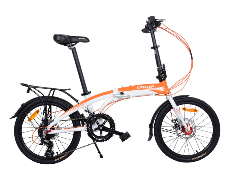 "CAMP Thunderbolt 16-Speed Dual Disc Brakes 20"" Wheel Orange/White"