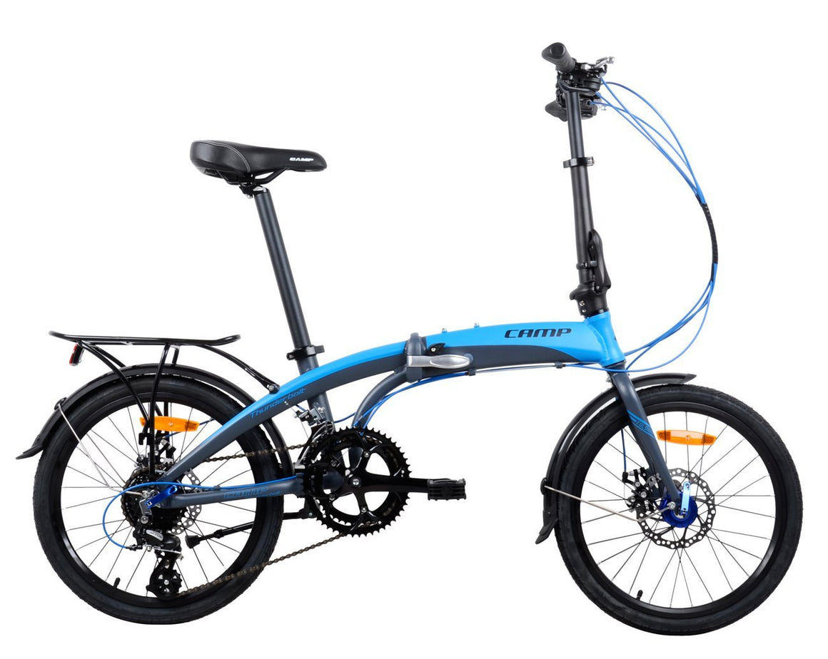 "CAMP Thunderbolt 16-Speed Dual Disc Brakes 20"" Wheel Blue/Grey"