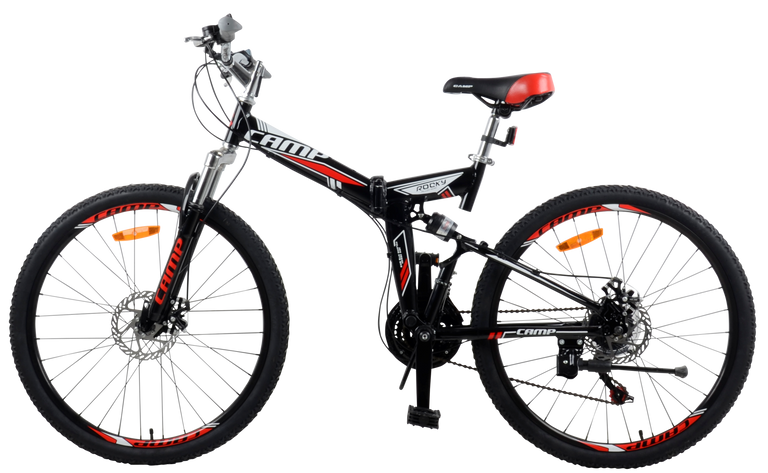 "Best Folding Mountain Bike Rocky- 26"" Wheels"
