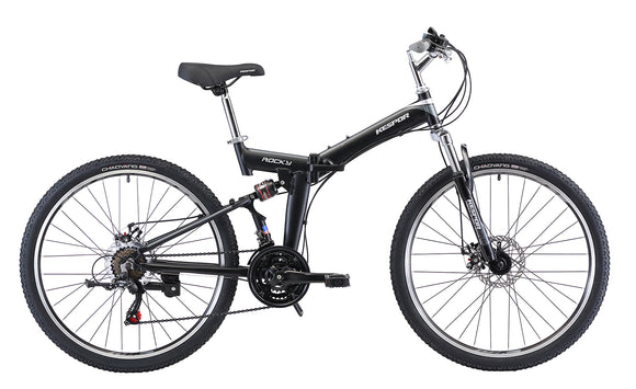 "Best Folding Mountain Bike Rocky- Kespor 26"" Wheels Black/Grey"