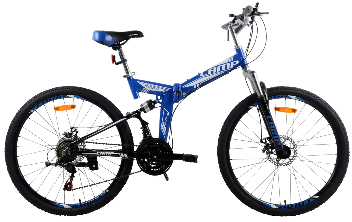 "Best Folding Mountain Bike Rocky- 26"" Wheels Blue"