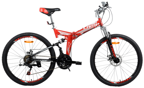 "Best Folding Mountain Bike Rocky- 26"" Wheels Red"