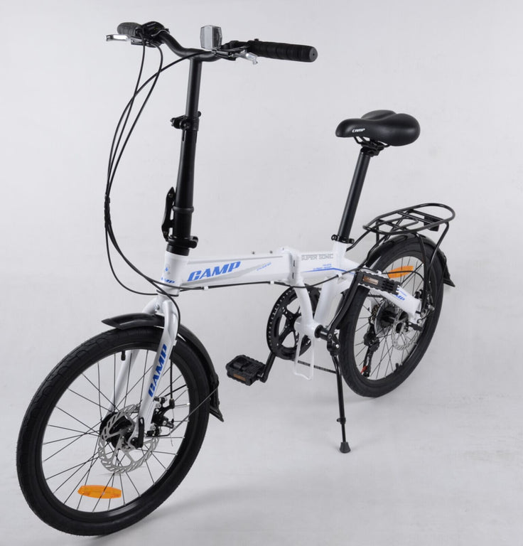 "CAMP SuperSonic 7-Speed Dual Disc Brakes 20"" Wheel"" White/Blue"