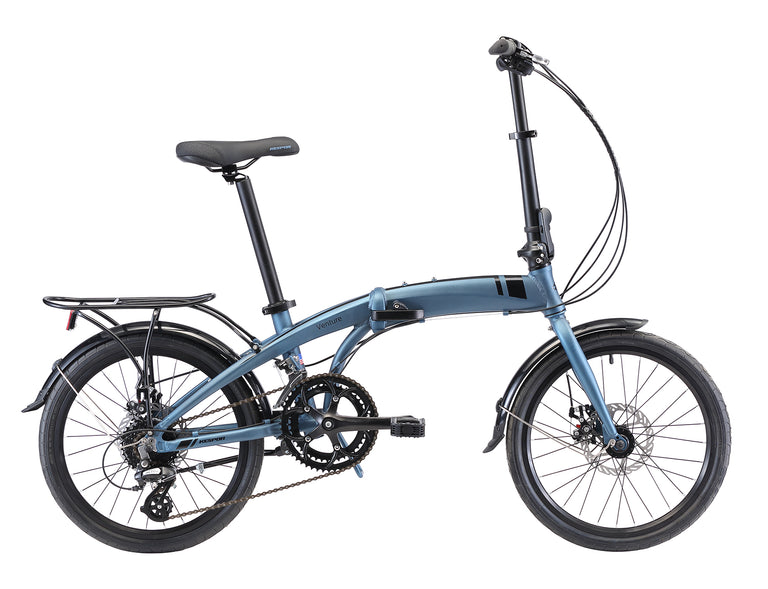 "KESPOR Venture 16-Speed Dual Disc Brakes 20"" Wheel Blue"