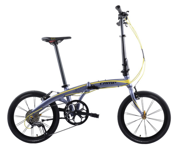 "CAMP Orbit 9-Speed  20"" Wheel Grey/Yellow"