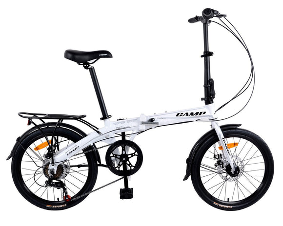 "CAMP SuperSonic 7-Speed Dual Disc Brakes 20"" Wheel Black/White"