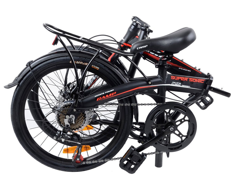 "CAMP SuperSonic 7-Speed Dual Disc Brakes 20"" Wheel Black/Red"
