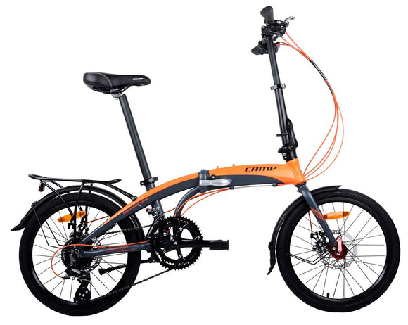 "CAMP Thunderbolt 16-Speed Dual Disc Brakes 20"" Wheel Orange/Grey"