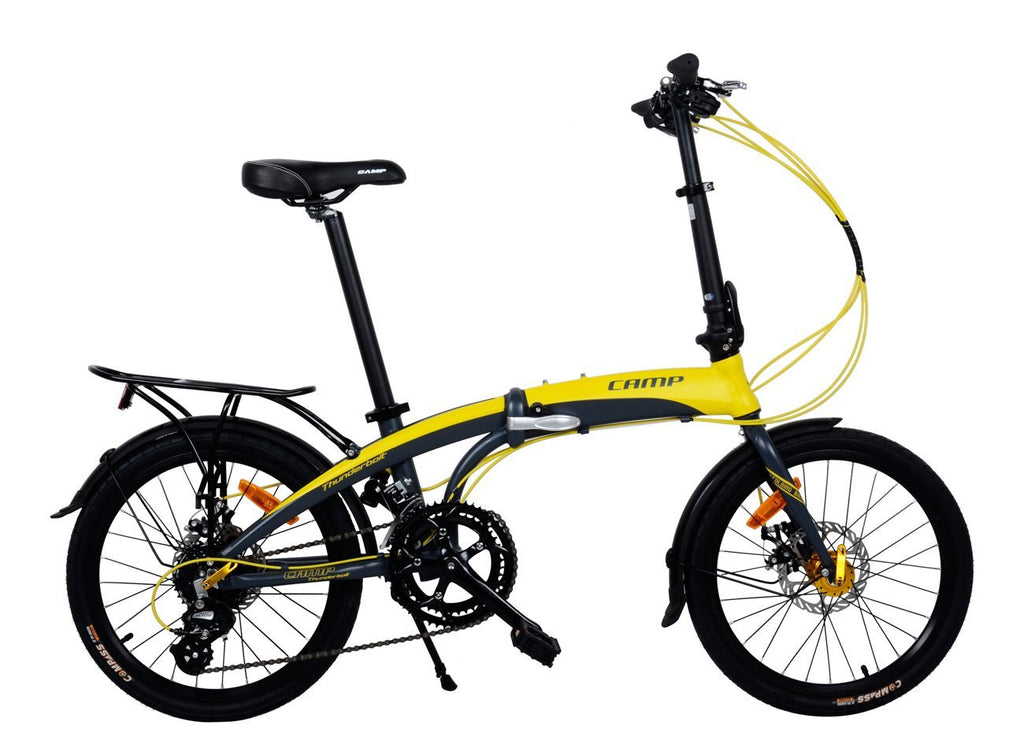 "CAMP Thunderbolt 16-Speed Dual Disc Brakes 20"" Wheel Yellow/Grey"