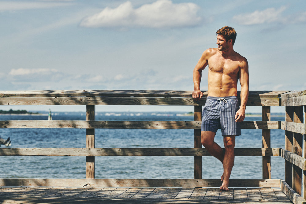 man in swim shorts