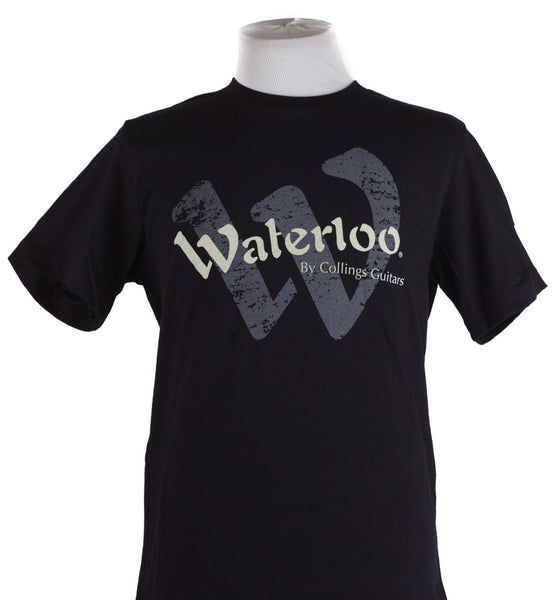 Black Short Sleeve Waterloo Logo T-Shirt