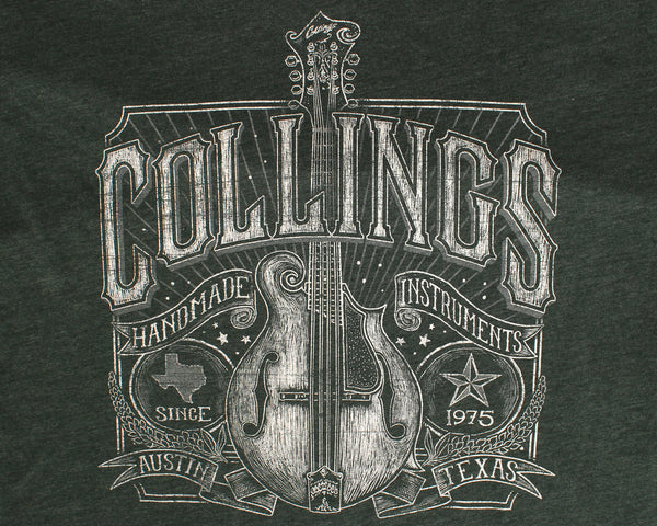 Mens Collings Mandolin Graphic T-Shirt Heather Forest