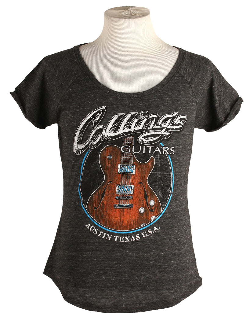 Womens Collings Electric SoCo Deluxe Graphic T-Shirt Charcoal Heather