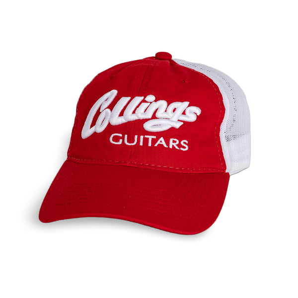 Collings Red/White Hat w/Puff Embroidery