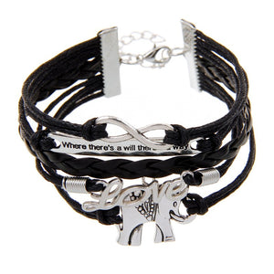 Black Elephant Love Bracelet