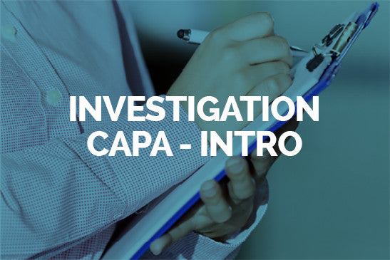 Investigation/CAPA - Introduction (1/2jr)