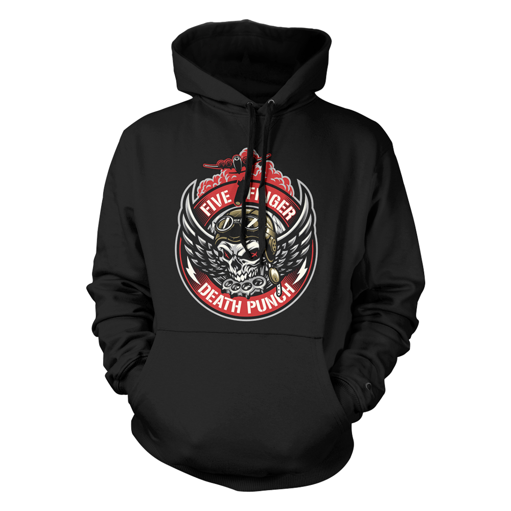 Bomber Patch Pullover Hoodie